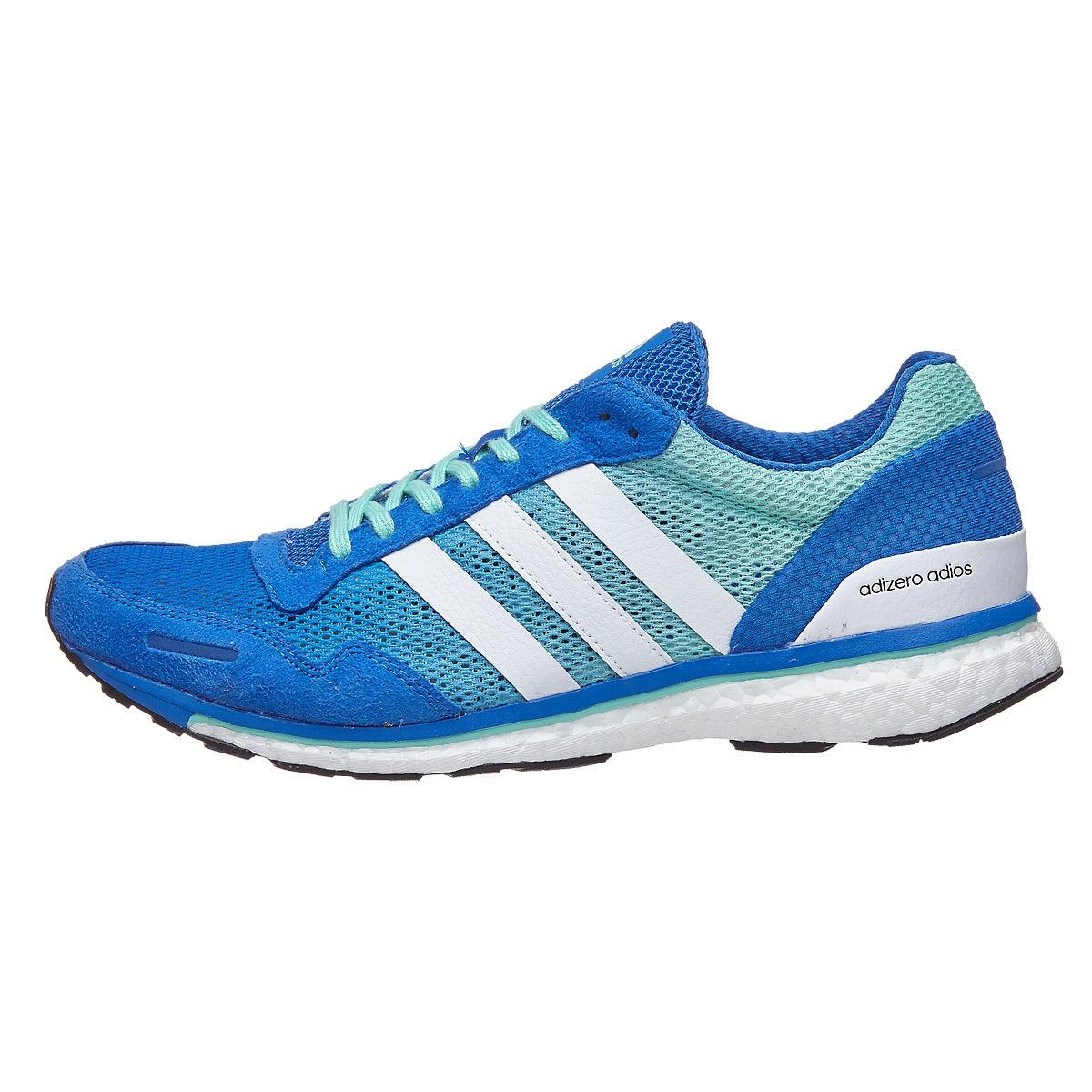 adidas adizero adios 3 Men's Shoes Blue 360° View