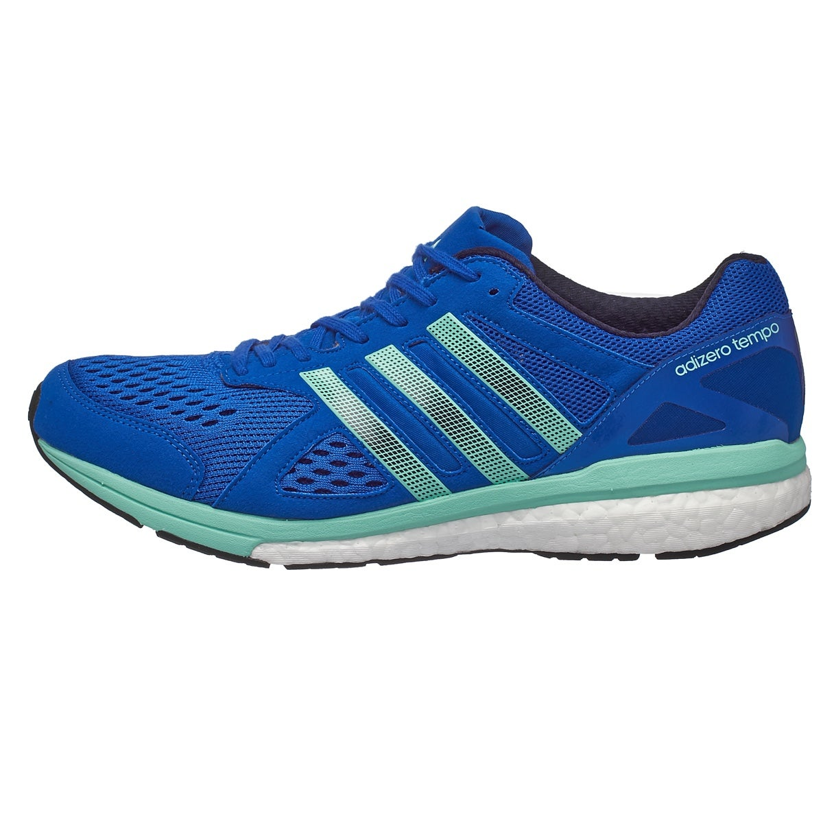 adidas adizero Tempo 8 Men's Shoes Blue 360° View