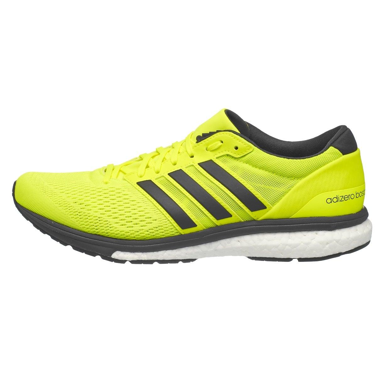 Boston >> adidas adizero Boston 6 Men's Shoes Sun Yellow 360° View | Running Warehouse Europe