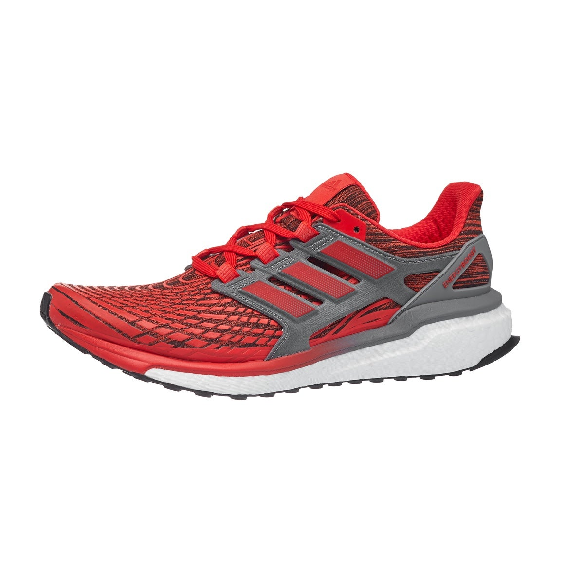 size 40 8e2e6 83a12 adidas Energy Boost 3 Mens Shoes Red 360° View  Running Warehouse Europe.