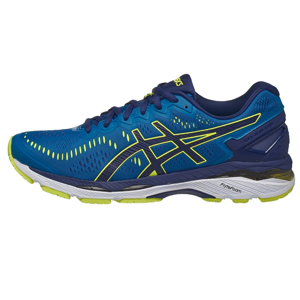 Asics Gel Kayano  Men S Shoes Thunder Blue Yellow