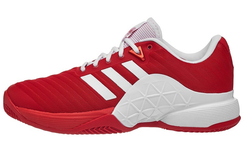 online store 44a24 d4a04 adidas Barricade 18 CLAY ScarletWhite Mens Shoe 360° View  Running  Warehouse Europe.