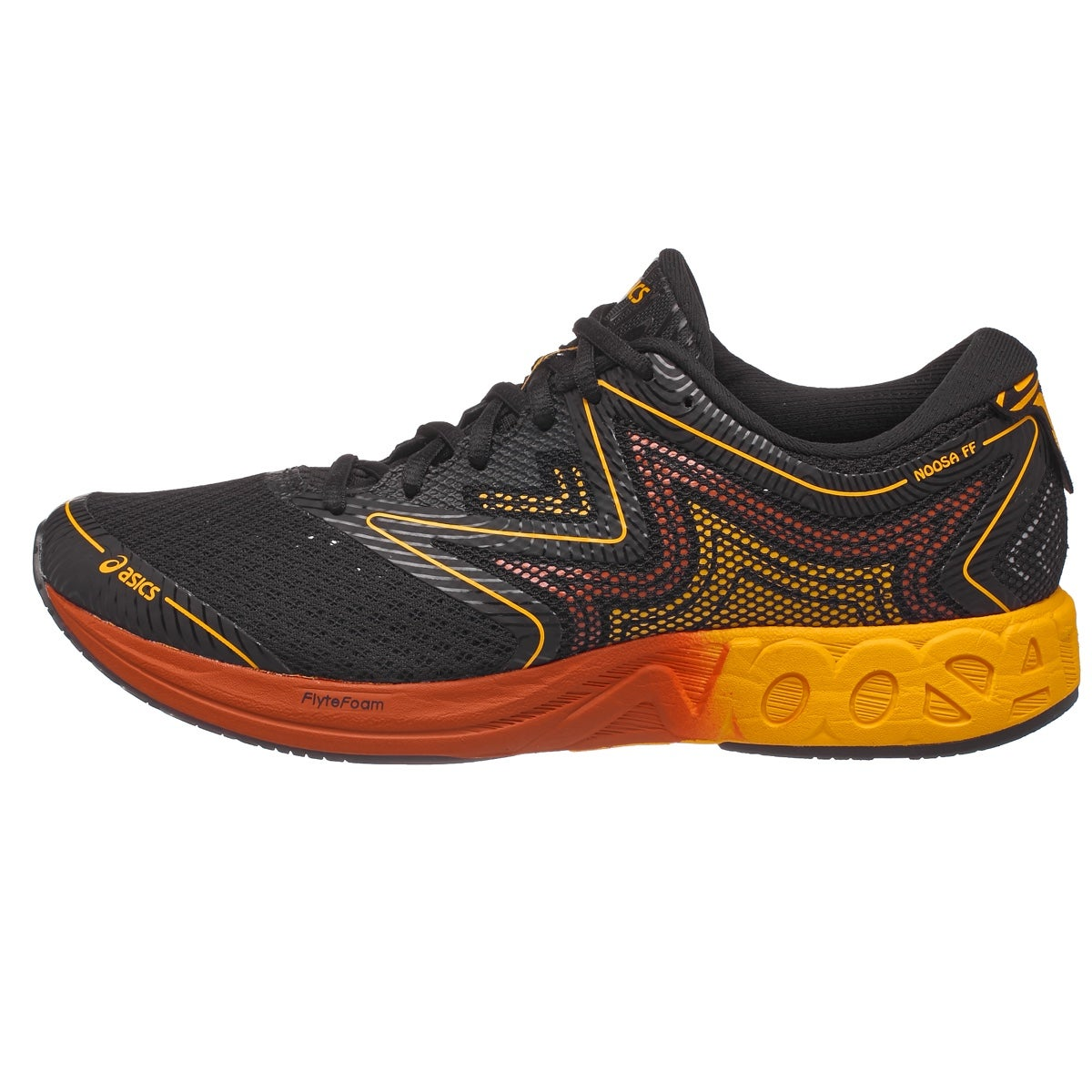 Asics Black And Red Running Shoes