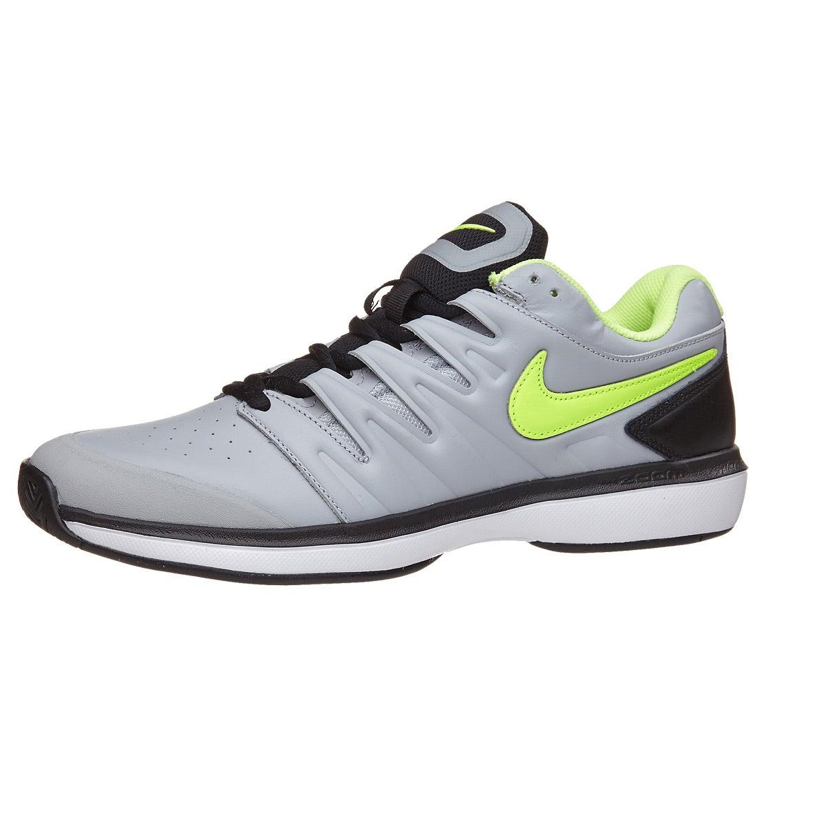 Nike Air Zoom Prestige Leather Grey Volt Men s Shoe 360° View ... 5efaf5c8c