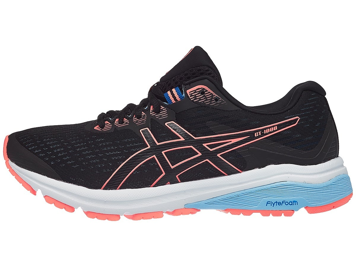 ASICS GT 1000 8 Women's Shoes Black/Coral
