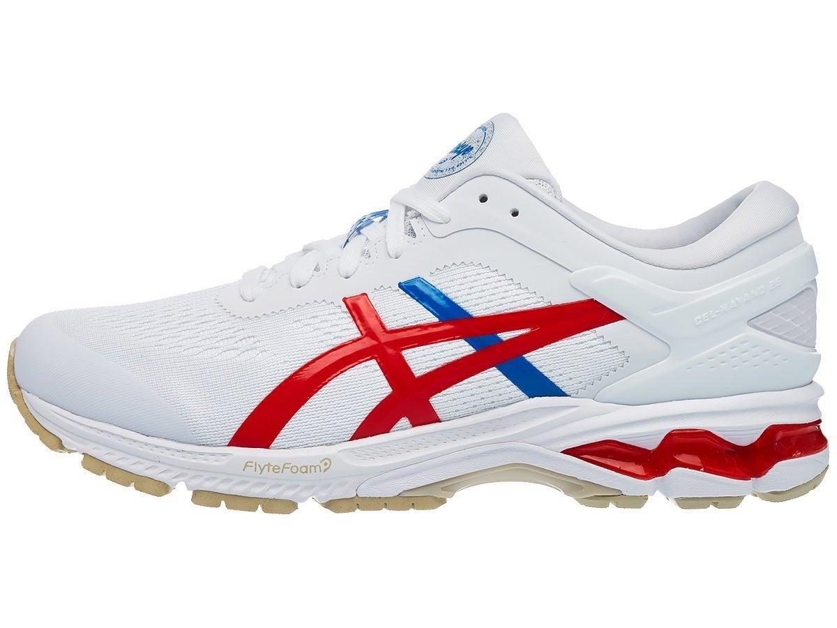 Zapatillas Mujer ASICS Gel Kayano 26 Blanco Tokyo White/Rojo/Azul