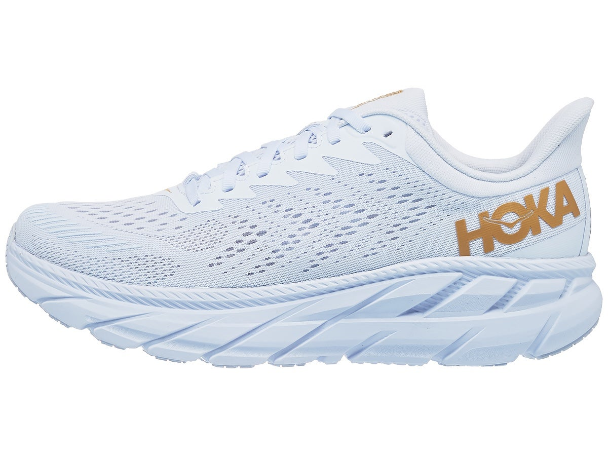 Zapatillas Hombre HOKA ONE ONE Clifton 7 Blanco/Dorado Egg