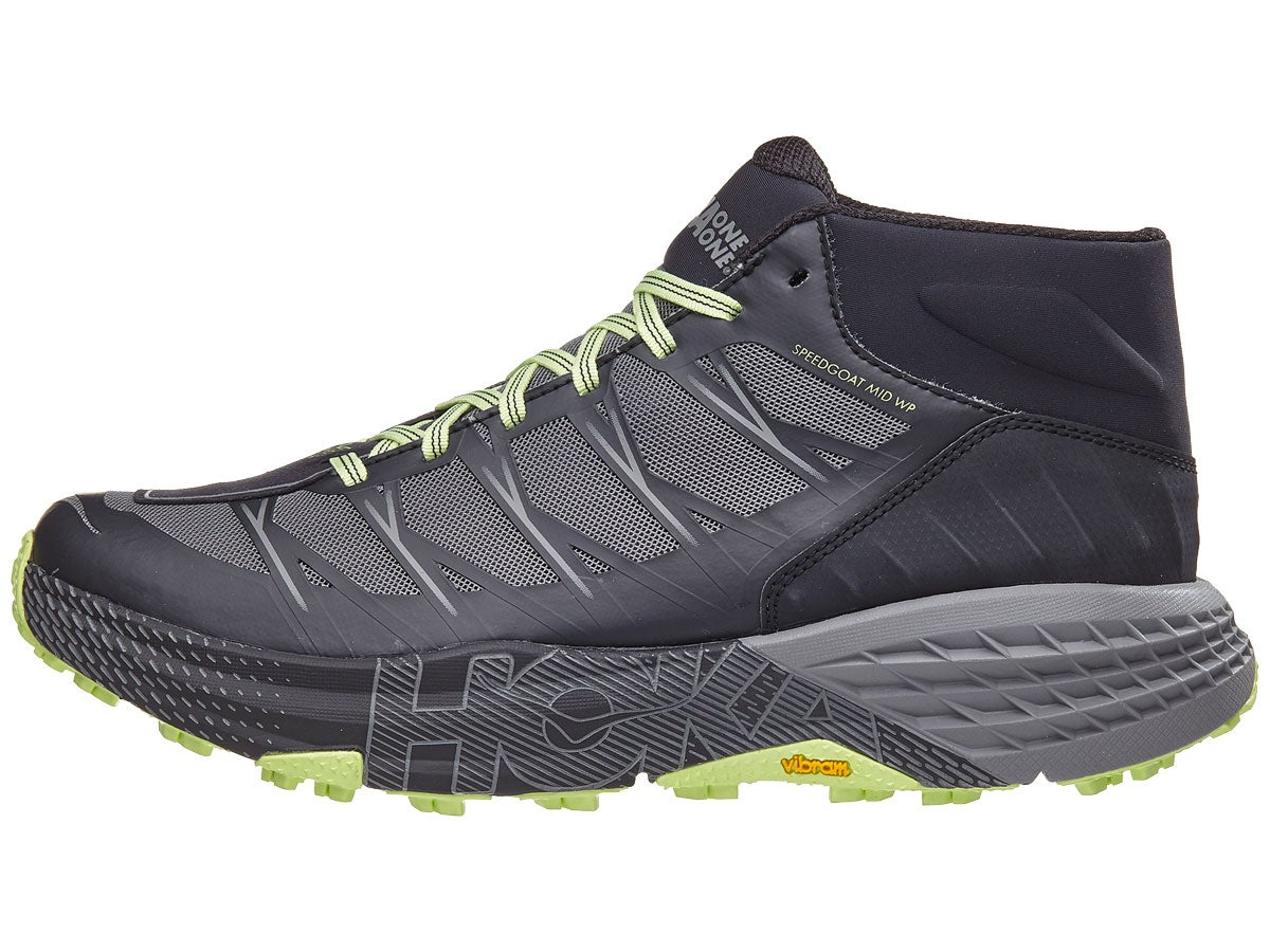 Zapatillas Hombre HOKA ONE ONE Speedgoat Mid WP Negro/Gris Steel