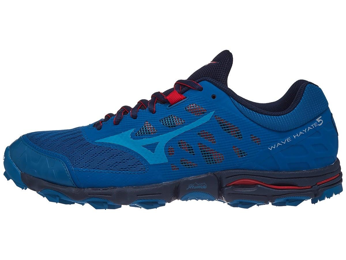 Mizuno Wave Hayate 5 Men's Shoes Blue Sapphire/Tomato