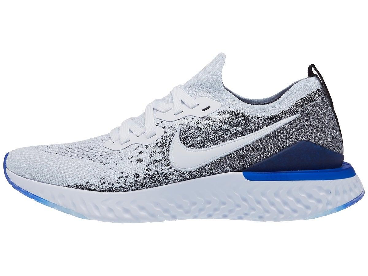 Zapatillas Hombre Nike Epic React Flyknit 2 Blanco/Azul Racer