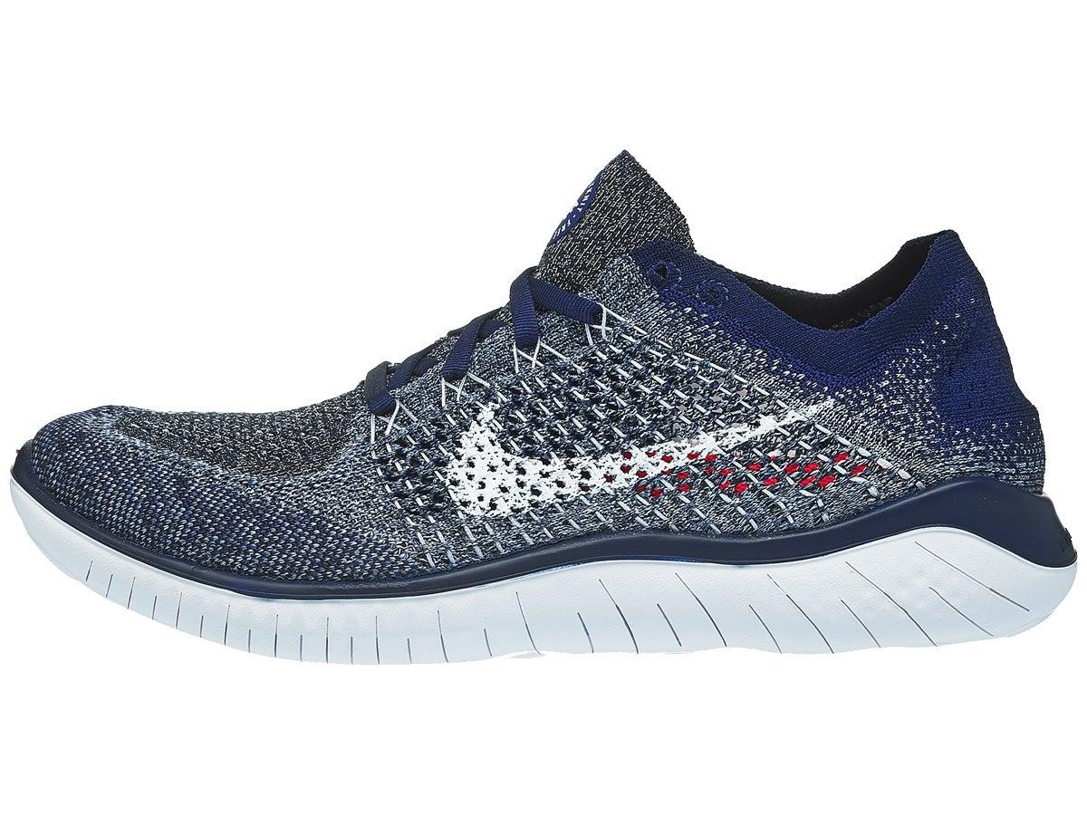 Nike Free RN Flyknit 2018 Men's Shoes Blue/White