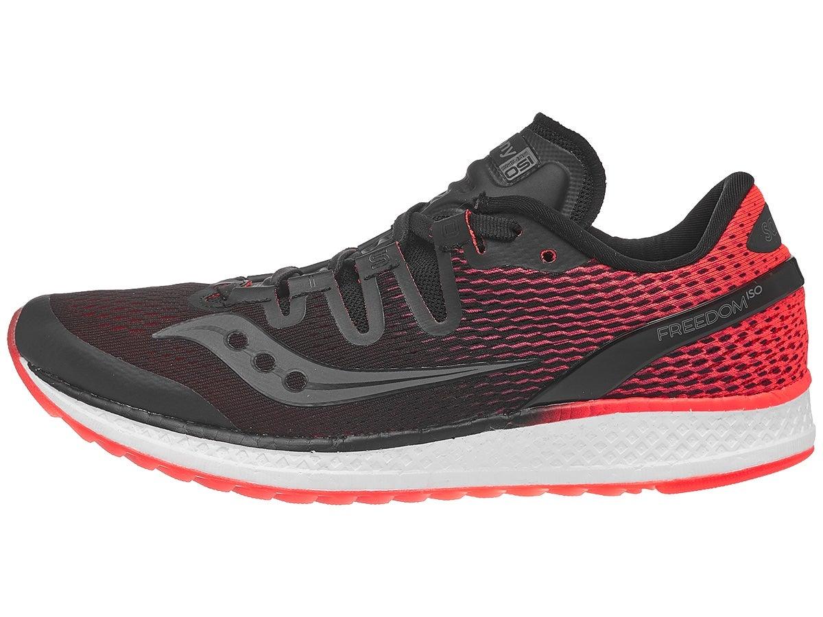 Zapatillas Mujer Saucony Freedom ISO Negro/Rojo ViZi