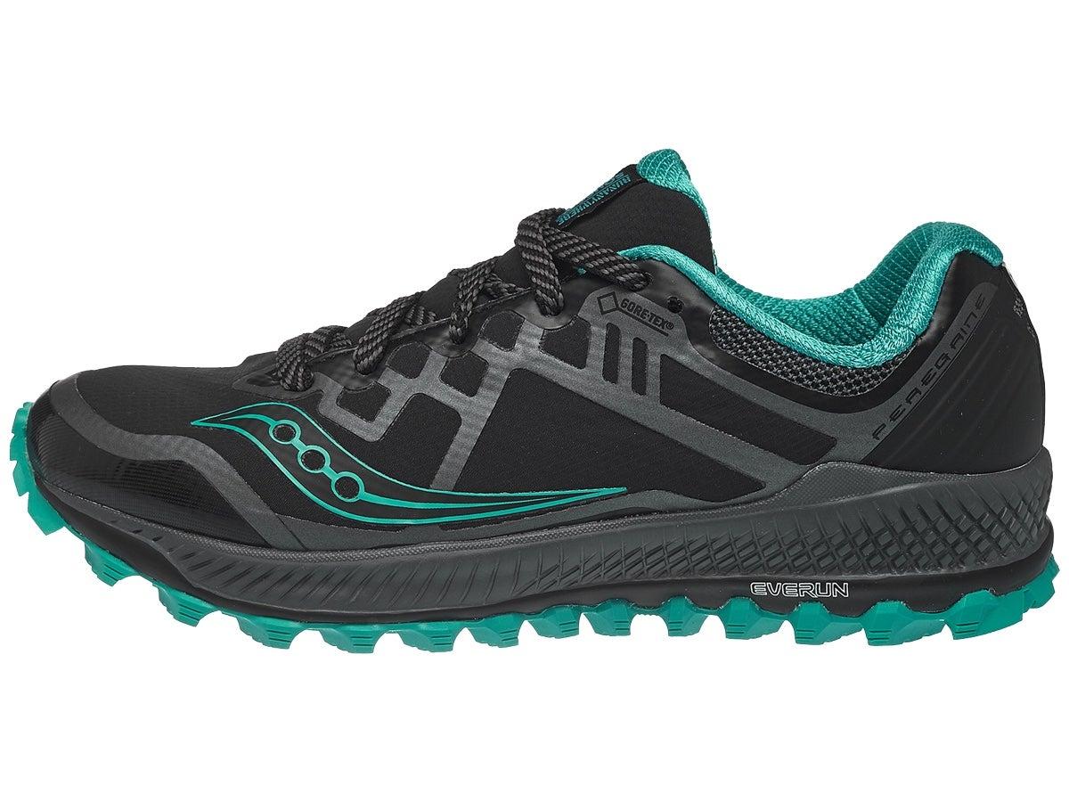 Zapatillas Mujer Saucony Peregrine 8 GTX Negro/Aqua