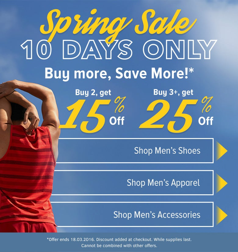 Men's Spring Sale Landing
