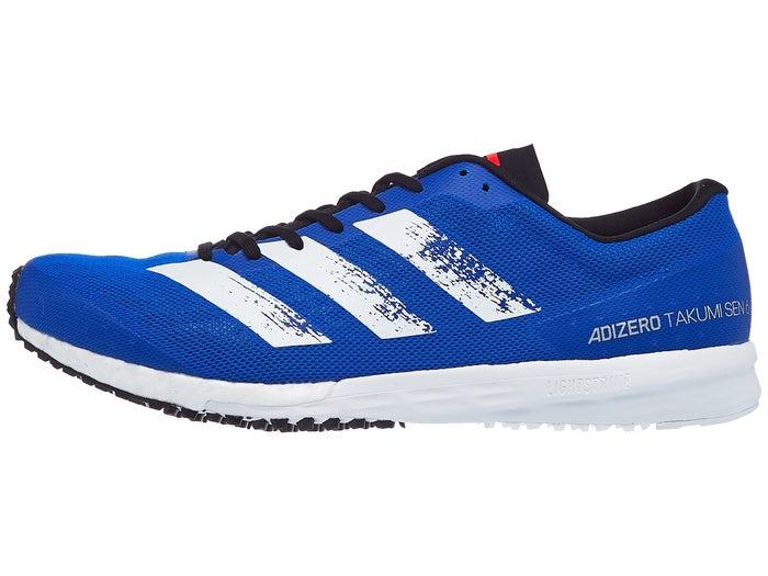 Contento Rancio calcetines  Zapatillas Unisex adidas adizero Takumi Sen 6 Azul/Blanco