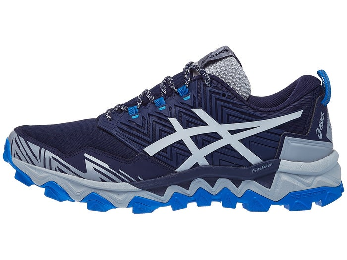 Mecánico Pegajoso corto  ASICS Gel FujiTrabuco 8 Men's Shoes Grey/Blue