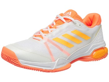 new styles 0a120 fb5e5 adidas Barricade Club WhiteOrangeYellow Mens Shoe