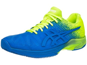Scarpe Asics Gel Solution Speed FF Clay Blue Yellow Uomo ... a771f78188e