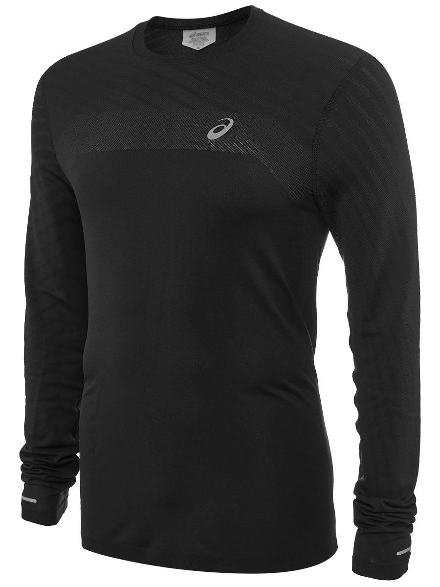 Asics Mens Icon Winter Long Sleeve 1//2 Zip Running Top Red Sports Half