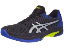 detailed look fccac bac60 Asics Solution Speed FF Black Blue Yellow Men s Shoes