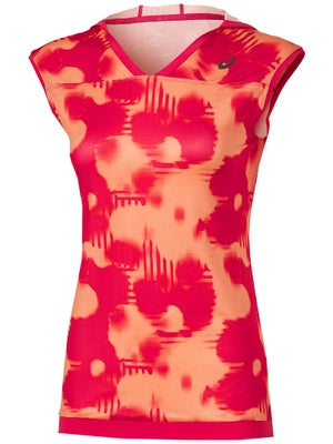 f71cc9987ff Haut Sans Manches à Capuche Femme Asics Imprimé Splash Melon