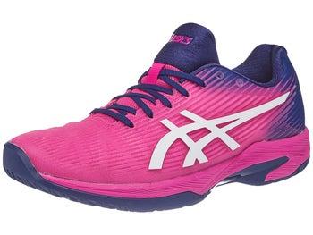 2279c979192d Chaussures Femme Asics Gel Solution Speed FF Rose/Bleu Marine
