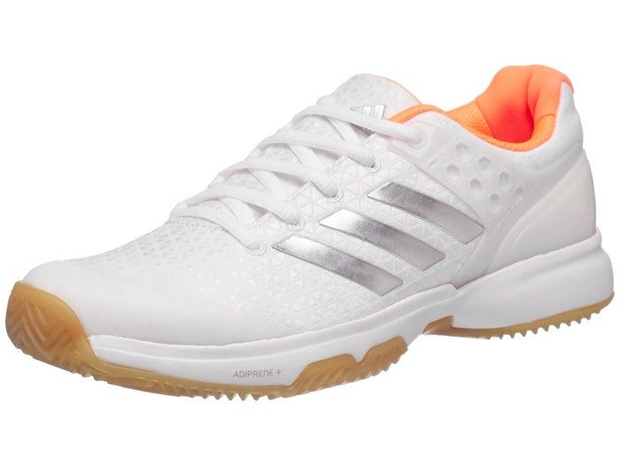 the latest 79fb0 1c615 Chaussures Femme adidas adizero ubersonic 2 TERRE BATTUE Blanc Argent Orange