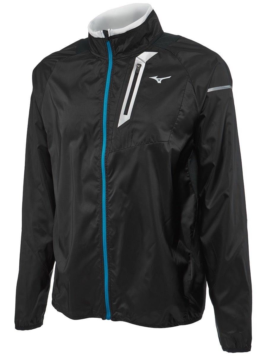 Mizuno Rain Jacket Mens Gents Water Repellent Coat Top Full Length Sleeve