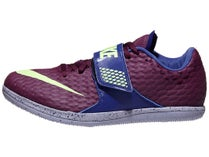 new product e8535 05c0a Nike High Jump Elite Unisex Spikes Bordeaux Lime