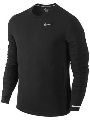 site de air max 90 - Nike Men's Dri Fit Contour Long Sleeve Black | Running Warehouse ...