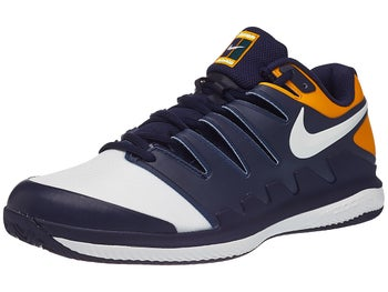 separation shoes 96fe7 34c5e Chaussures Homme Nike Air Zoom Vapor X TERRE BATTUE Bleu Marine Orange
