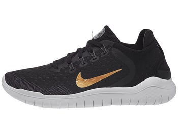 58109c573f90 ... Nike Free RN 2018 Women s Shoes Black Gold ...
