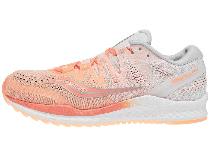 on sale fc396 9c26a Saucony Freedom ISO 2 Women's Shoes Peach/White