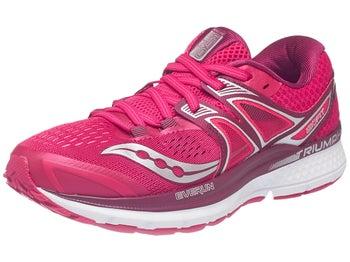 p>scarpe saucony triumph iso 3 rosa/rosso donna</p>   running
