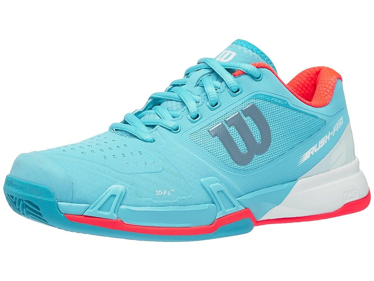 Wilson Rush Pro 2.5 CLAY Blue/White/Coral Women's Shoe